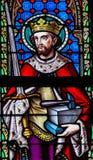 彩色玻璃-圣徒艾德里安或Adrianus 免版税库存图片