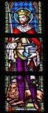 彩色玻璃-圣徒艾德里安或Adrianus 免版税库存照片