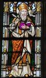 彩色玻璃-圣格雷戈里伟大 免版税图库摄影