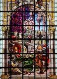 彩色玻璃-圣约翰浸礼会教友 免版税库存图片