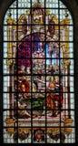 彩色玻璃-圣约翰浸礼会教友 免版税图库摄影