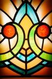 彩色玻璃细节 免版税库存图片