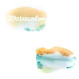 水彩艺术在白色的手油漆 10 eps 库存照片