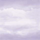 水彩艺术性的手画紫罗兰色织地不很细抽象背景 免版税库存图片