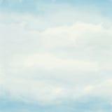 水彩艺术性的手画蓝色织地不很细抽象背景 图库摄影