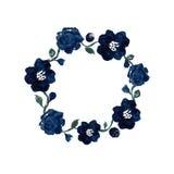 水彩花卉框架 免版税库存图片