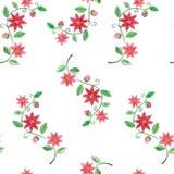 水彩花无缝的样式 皇族释放例证