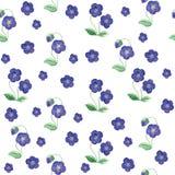 水彩花无缝的样式 向量例证