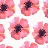 水彩花纹花样样式 免版税库存照片