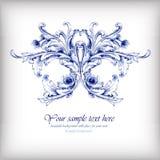 水彩蓝色传染媒介背景 皇族释放例证