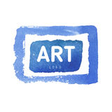 水彩蓝色按钮背景 图库摄影