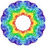 彩虹万花筒传染媒介充满活力的圈子 皇族释放例证