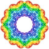 彩虹万花筒传染媒介充满活力的圈子 向量例证