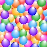 彩虹上色光滑的球背景 库存照片