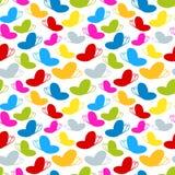彩虹上色无缝的蝴蝶模式 免版税图库摄影