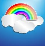彩虹云彩纸张作用 图库摄影