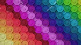 彩虹五颜六色的墙纸按钮 免版税库存照片