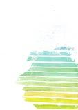 彩虹五颜六色的梯度介绍模板,根据白色水彩纸和条纹纹理,手拉,在充满活力的颜色 免版税库存图片