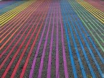 彩虹交叉点,卡斯特罗区,加利福尼亚 库存图片
