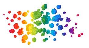 彩虹传染媒介水彩背景 库存照片