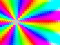 彩虹低多三角样式传染媒介马赛克 免版税库存图片