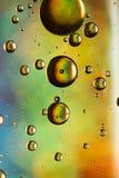彩虹作用油和水摘要 免版税库存图片