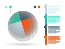 彩虹光谱上色了与在白色背景隔绝的说明文本领域的难题介绍infographic模板 图库摄影