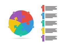 彩虹光谱上色了与在白色背景隔绝的说明文本领域的难题介绍infographic模板 库存图片
