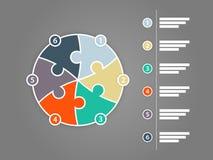 彩虹光谱上色了与说明文本领域的难题介绍infographic模板 免版税库存图片