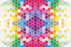 彩虹六角形瓦片 库存图片