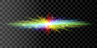 彩虹发光的光 免版税库存图片