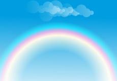 彩虹和云彩 免版税库存图片