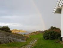 彩虹和光 库存图片