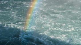 彩虹和开水在尼亚加拉大瀑布 影视素材