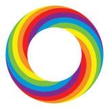 彩虹圆的轮子圈子 免版税库存照片
