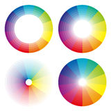 彩虹圈子,五颜六色的范围 图库摄影