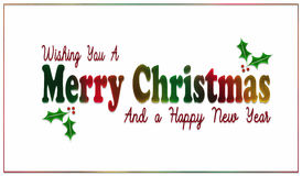 彩虹圣诞节和新年卡片 免版税库存图片