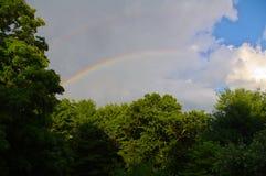 彩虹在一个夏日 库存照片