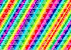 彩虹在三角样式的光芒线 免版税库存照片