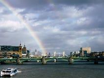 彩虹在伦敦 库存照片