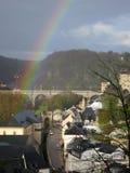 彩虹在卢森堡 免版税图库摄影