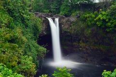 彩虹在大岛夏威夷落 库存照片