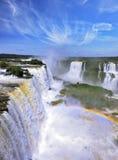 彩虹在薄雾发光 免版税库存照片