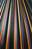 彩虹在黑织品的色的条纹 图库摄影