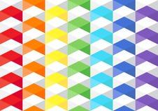 彩虹多角形tuxture 库存照片