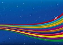 彩虹天空向量 免版税库存图片