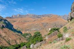 彩虹峡谷,大教堂高峰自然保护,德肯斯伯格山脉,夸祖鲁纳塔尔,南非 库存照片