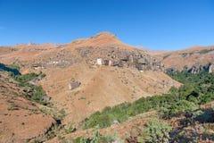 彩虹峡谷,大教堂高峰自然保护,德肯斯伯格山脉,夸祖鲁纳塔尔,南非 免版税库存照片