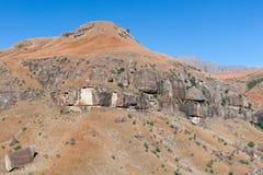 彩虹峡谷,大教堂高峰自然保护,德肯斯伯格山脉,夸祖鲁纳塔尔,南非 图库摄影