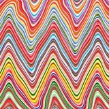 彩虹弯曲了波浪条纹种族分界线艺术传染媒介背景 向量例证